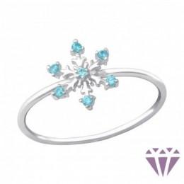 Hópehely formájú ezüst gyűrű