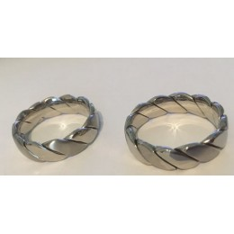 Acéélgyűrű, férfi sodrott gyűrű