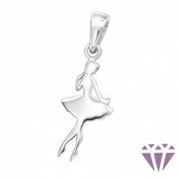Táncos balerina ezüst medál