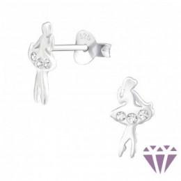 Táncos lány ezüst fülbevaló