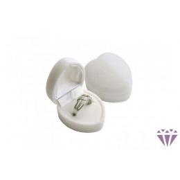 Fehér bársony ékszertartó doboz gyűrűhöz