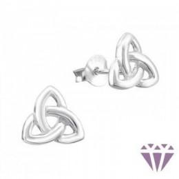 Ezüst jel formájú fülbevaló