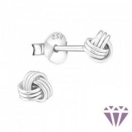 Csomó formájú ezüst fülbevaló