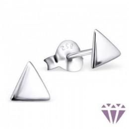 Ezüst háromszög formájú fülbevaló