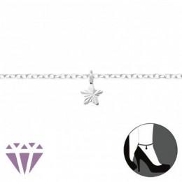 Csillagos ezüst bokalánc