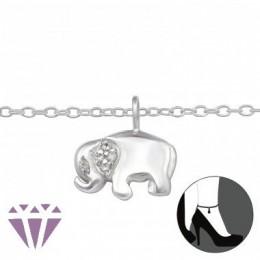 Elefántos ezüst bokalánc