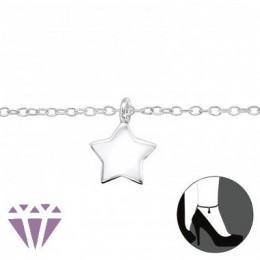 Csillag ezüst bokalánc