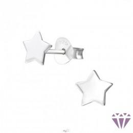 Ezüst csillag formájú fülbevaló, egy pár