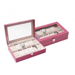 Rózsaszín óra- és ékszertartó doboz