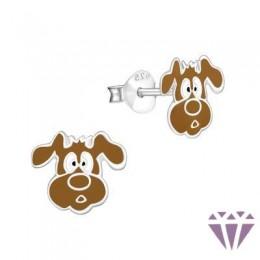 Színes ezüst zománc fülbevaló - A4S4973