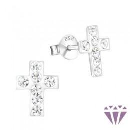 Kristályos gyerek ezüst fülbevaló - A4S5000
