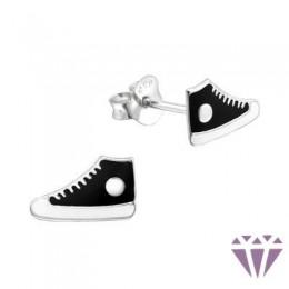Színes ezüst zománc fülbevaló - A4S5151