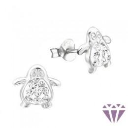 Kristályos gyerek ezüst fülbevaló - A4S5420