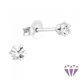 Kristályos gyerek ezüst fülbevaló - A4S5573