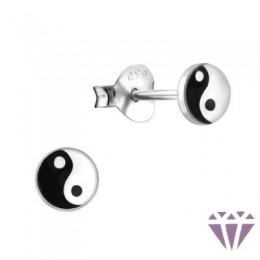 Színes ezüst zománc fülbevaló - A4S5656