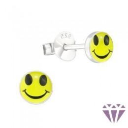 Színes ezüst zománc fülbevaló - A4S6833