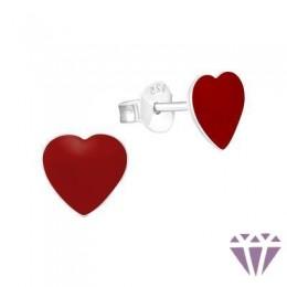 Színes ezüst zománc fülbevaló - A4S7126
