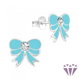 Kristályos gyerek ezüst fülbevaló - A4S7345