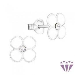 Kristályos gyerek ezüst fülbevaló - A4S7368