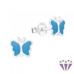 Színes ezüst zománc fülbevaló - A4S7390