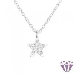 Swarovski La Crystale - ezüst gyerek nyaklánc - A4S32758