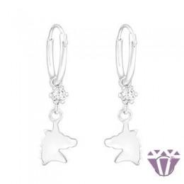 Swarovski La Crystale - karika gyerek ezüst fülbevaló - A4S32890