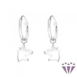 Gyerek ezüst karika fülbevaló - A4S36984