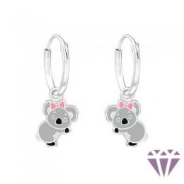 Gyerek ezüst karika fülbevaló - A4S36985