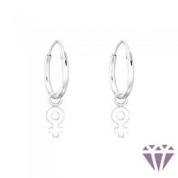 Gyerek ezüst karika fülbevaló - A4S41458