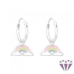 Gyerek ezüst karika fülbevaló - A4S41551
