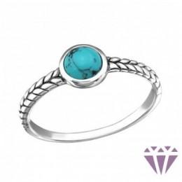 Türkizkék köves ezüstgyűrű