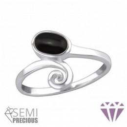 Féldrágaköves ezüstgyűrű