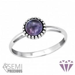 Lila köves ezüstgyűrű