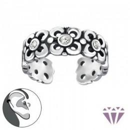 Virágos fülcimpa gyűrű