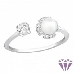 Gyöngy ezüst gyűrű