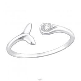 Bálna farok ezüst gyűrű