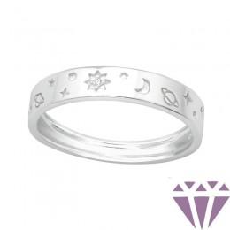 Csillag, Hold, Nap ezüst gyűrű