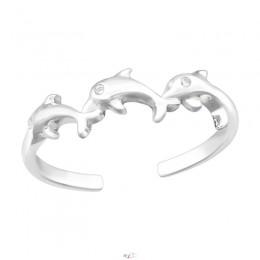 Delfin formájú lábujj gyűrű