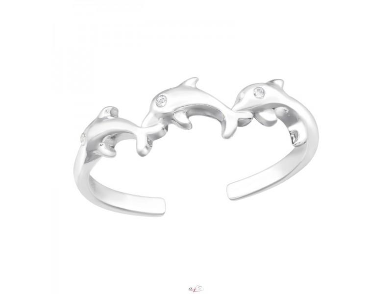 Delfin formájú gyűrű