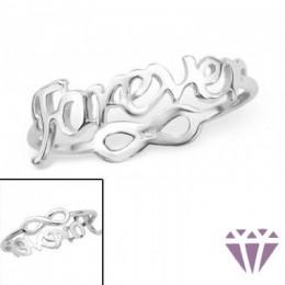 Ezüst forever feliratú gyűrű