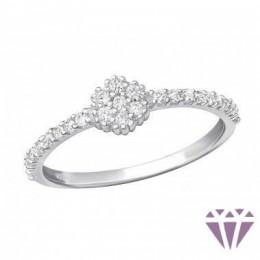 Cirkónia kövekkel díszített női gyűrű