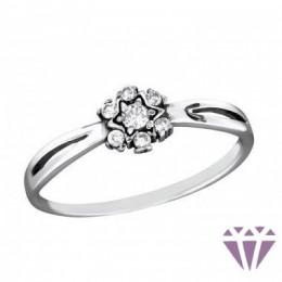 Virág formájú női ezüst gyűrű