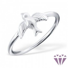 Ezüst madár formájú gyűrű