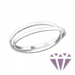 Kő nélküli dupla ezüst gyűrű