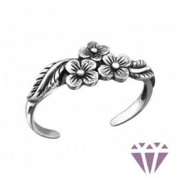 Virág mintázatú ezüst gyűrű
