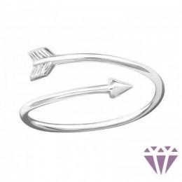Nyíl formájú ezüst gyűrű