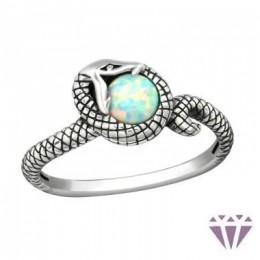 Kígyós ezüst gyűrű