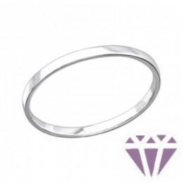 Kő nélküli ezüst gyűrű, minimal