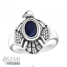 Sas kék köves ezüst gyűrű