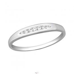Minimál sok köves ezüst gyűrű